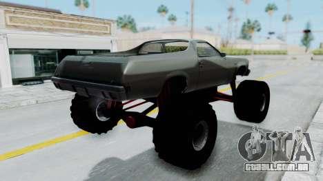 Chevrolet El Camino 1973 Monster Truck para GTA San Andreas esquerda vista