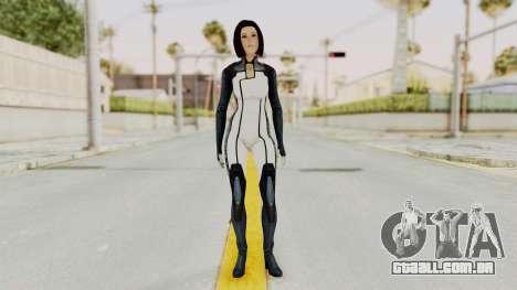 Mass Effect 3 Dr. Eva New Short Hair para GTA San Andreas segunda tela