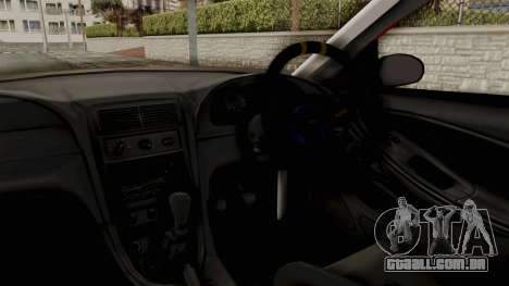Ford Mustang 1999 Rusty Rebel para GTA San Andreas vista interior