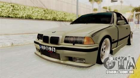 BMW 320CI E36 para GTA San Andreas traseira esquerda vista