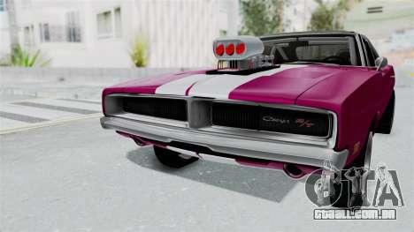 Dodge Charger 1969 Drag para GTA San Andreas vista direita