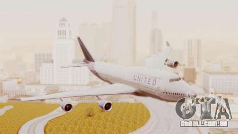 Boeing 747-400 United Airlines para GTA San Andreas