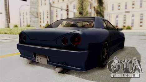 Japan Elegy para GTA San Andreas traseira esquerda vista