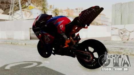 Honda CBR1000RR Mini para GTA San Andreas traseira esquerda vista