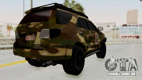 Toyota Fortuner 4WD 2015 Paraguay para GTA San Andreas vista direita