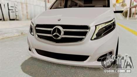 Mercedes-Benz V-Class 2015 para GTA San Andreas vista inferior