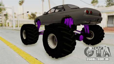 Nissan Skyline R32 4 Door Monster Truck para GTA San Andreas esquerda vista