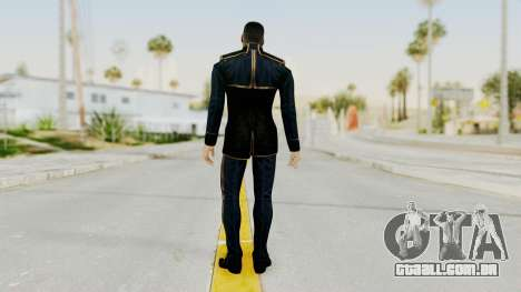 Mass Effect 3 Shepard Formal Alliance Uniform para GTA San Andreas terceira tela