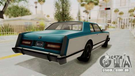 GTA 5 Dundreary Virgo Classic IVF para GTA San Andreas esquerda vista