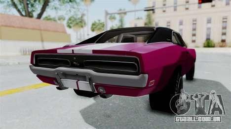 Dodge Charger 1969 Drag para GTA San Andreas esquerda vista