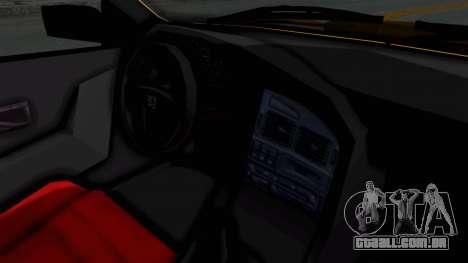 Peugeot Pars Full Sport para GTA San Andreas vista interior