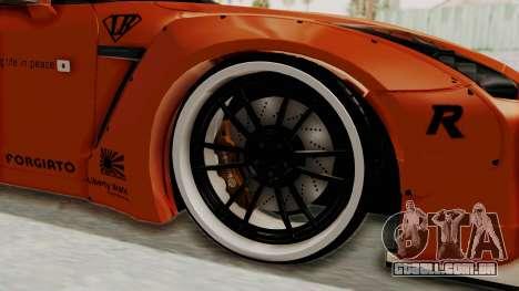 Nissan GT-R R35 Liberty Walk LB Performance para GTA San Andreas vista traseira