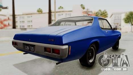 Holden Monaro GTS 1971 AU Plate IVF para GTA San Andreas traseira esquerda vista