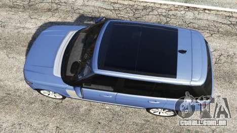 GTA 5 Range Rover (L405) Vogue 2013 voltar vista