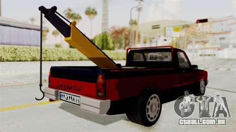 Mazda Tow Truck Pickup para GTA San Andreas esquerda vista