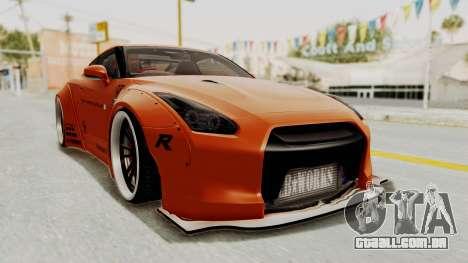 Nissan GT-R R35 Liberty Walk LB Performance para GTA San Andreas vista direita
