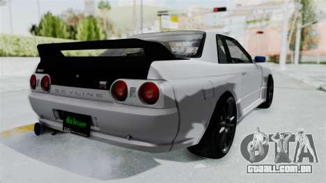 Nissan Skyline BNR32 Hot Version para GTA San Andreas traseira esquerda vista