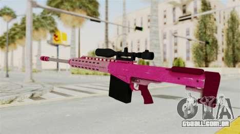 GTA 5 Heavy Sniper Pink para GTA San Andreas segunda tela