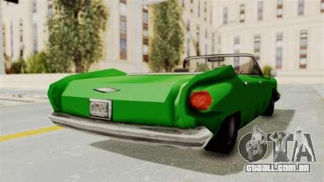 Glendale XS para GTA San Andreas traseira esquerda vista