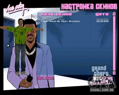 Weed T-Shirt para GTA Vice City terceira tela