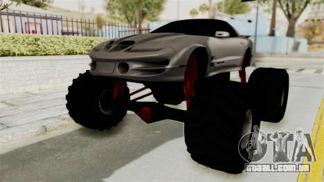 Pontiac Firebird Trans Am 2002 Monster Truck para GTA San Andreas