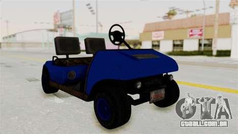 GTA 5 Gambler Caddy Golf Cart IVF para GTA San Andreas