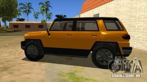 Karin Beejay XL para GTA San Andreas esquerda vista