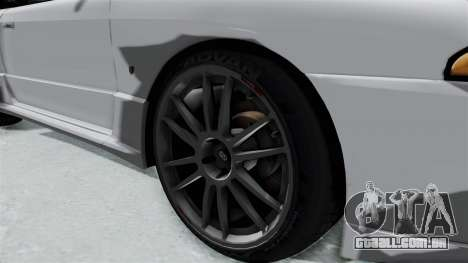 Nissan Skyline BNR32 Hot Version para GTA San Andreas vista traseira