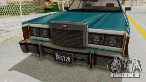 GTA 5 Dundreary Virgo Classic IVF para GTA San Andreas vista traseira