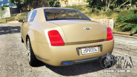 GTA 5 Bentley Continental Flying Spur 2010 traseira vista lateral esquerda