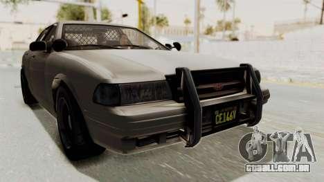 GTA 5 Vapid Stanier II Police Cruiser 2 IVF para GTA San Andreas traseira esquerda vista