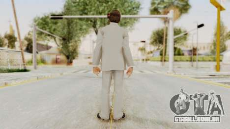 Scarface Tony Montana Suit v1 with Glasses para GTA San Andreas terceira tela