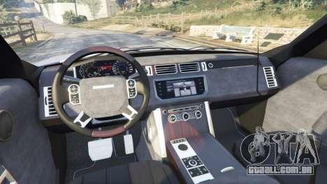 GTA 5 Range Rover (L405) Vogue 2013 traseira direita vista lateral