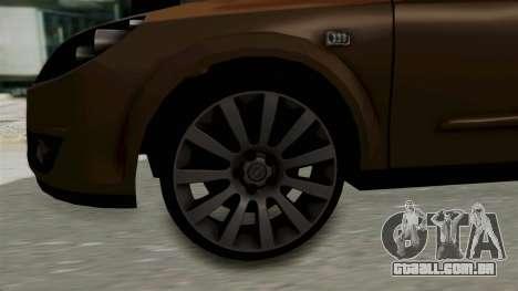 Opel Astra Sedan 2011 para GTA San Andreas vista traseira