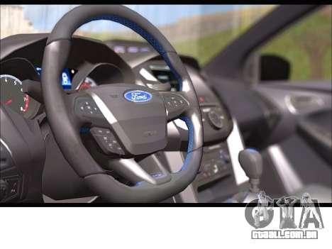 Ford Focus RS 2017 para GTA San Andreas vista traseira