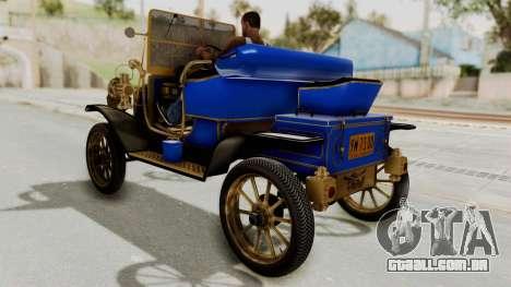 Ford T 1912 Open Roadster v2 para GTA San Andreas traseira esquerda vista