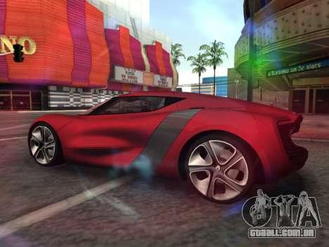 Renault Dezir Concept para GTA San Andreas esquerda vista