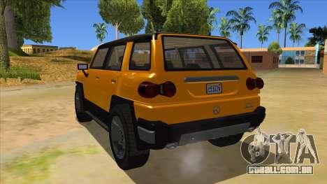 Karin Beejay XL para GTA San Andreas traseira esquerda vista