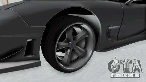 Mazda RX-7 FD3S HellaFlush para GTA San Andreas vista traseira