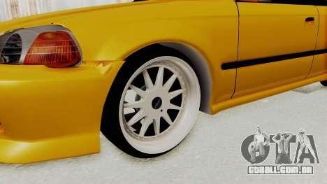 Honda Civic Vermidon para GTA San Andreas vista traseira
