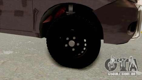 Toyota Hilux 2014 Army Libyan para GTA San Andreas vista traseira