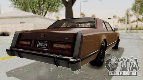 GTA 5 Dundreary Virgo Classic para GTA San Andreas vista direita
