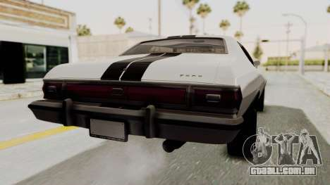 Ford Gran Torino 1975 para GTA San Andreas esquerda vista
