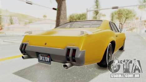 GTA 5 Declasse Sabre GT2 B IVF para GTA San Andreas vista direita