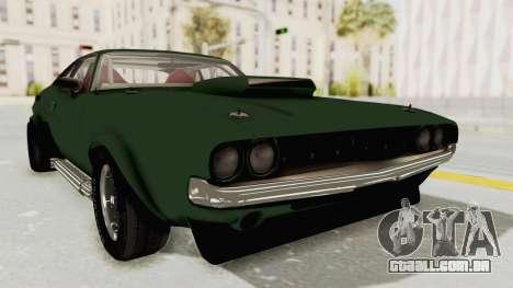 Dodge Challenger 1971 para GTA San Andreas traseira esquerda vista