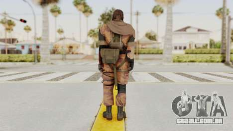 MGSV The Phantom Pain Venom Snake Scarf v5 para GTA San Andreas terceira tela