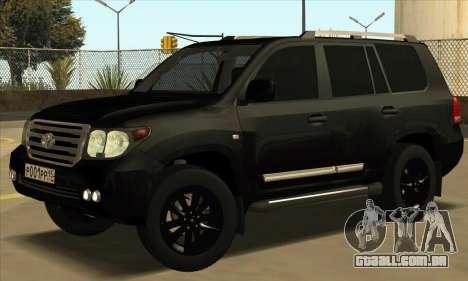 Toyota Land-Cruiser 200 para GTA San Andreas esquerda vista