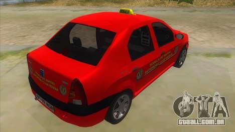 Dacia Logan Scoala para GTA San Andreas vista direita
