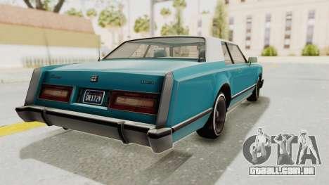 GTA 5 Dundreary Virgo Classic Custom v3 para GTA San Andreas traseira esquerda vista