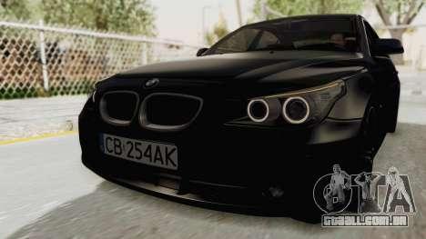 BMW 530D E60 para GTA San Andreas traseira esquerda vista